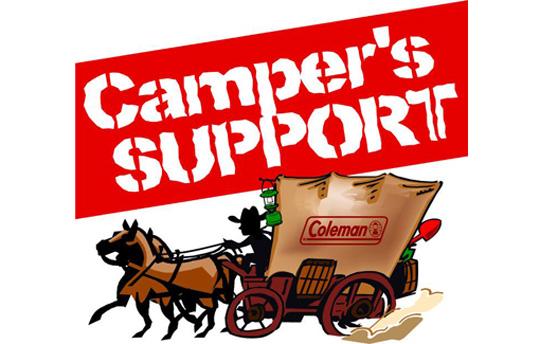 オフィシャルキャンプサポート supported by Coleman